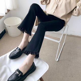 Lace-Trim Boot-Cut Pants 1064846906