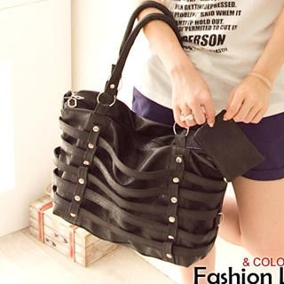 Buy Fashion Lady Strap Studded Satchel with Pouch 1023046849