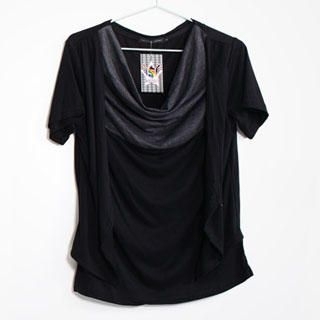 Buy SERUSH Drape Front Color-Block Tee 1022854872