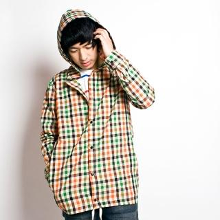 Picture of ARASI Hooded Long Sleeve Gingham Shirt 1021405827 (ARASI, Mens Shirts, Korea)