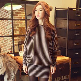 Pinstripe Tube-Hem Dress