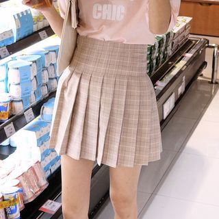 Plaid Mini Pleated Skirt 1050991576