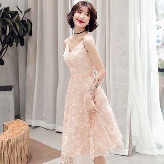 Spaghetti | Party | Strap | Dress | Lace
