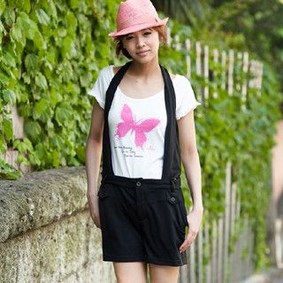 Picture of ageha@shibuya Suspender Shorts Black - One Size 1022589697 (Womens Shorts, ageha@shibuya Pants, Japan Pants)
