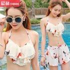 Set: Floral Print Bikini + Chiffon Shorts 1596