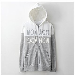 Lettering Two-Tone Hoodie 1057894375