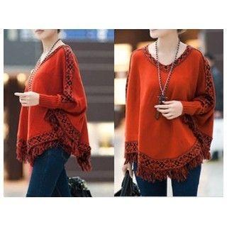 Fringe Trim Sweater 1062569995