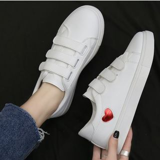 Image of Heart Adhesive Strap Sneakers
