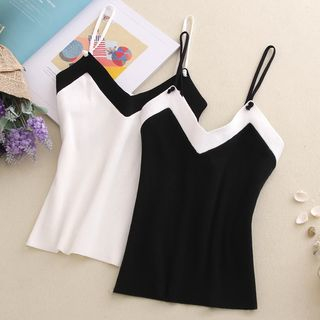Image of Color Block Knit Camisole Top