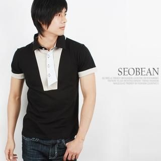 Buy SEOBEAN Contrast-Trim Short-Sleeve Polo Shirt 1022453288
