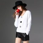Buttoned V-Neck Sweater 1596