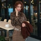 Long-Sleeve Leopard-Printed Shirt 1596