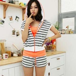 Buy BBon-J Set: Striped Hoodie + Shorts 1023002195