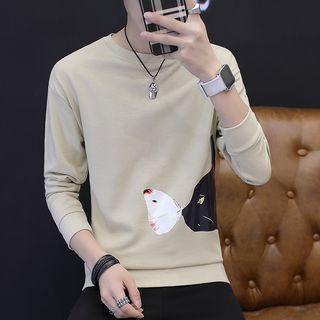 Image of Cat Print Sweatshirt