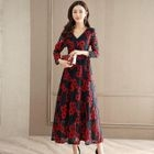 Tie-Waist Floral Maxi Dress 1596