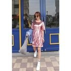 Round-Neck Sequined T-Shirt Dress 1596