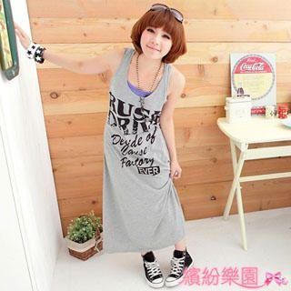 Buy Wonderland Print Maxi Dress 1022836740
