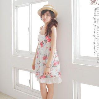 Buy Dream Star Sleeveless V-Neck Print Dress 1022998003