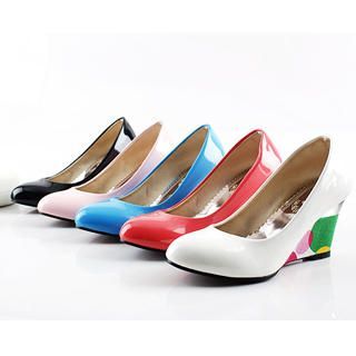 Picture of KAWO Printed Wedge Pumps 1022875751 (Pump Shoes, KAWO Shoes, China Shoes, Womens Shoes, Womens Pump Shoes)