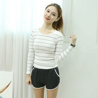 Stripe Ribbed T-Shirt 1057567253