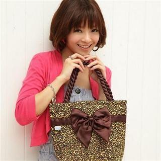 Buy Nantita Leopard Print Handbag with Bow Leopard – One Size 1021688844