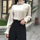 Frill Trim Long-Sleeve Sweatshirt 1596