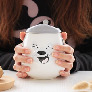 Animal Ceramic Cup + Spoon 1060377806
