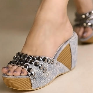 Buy Kvoll Studded Platform Wedges 1023070656