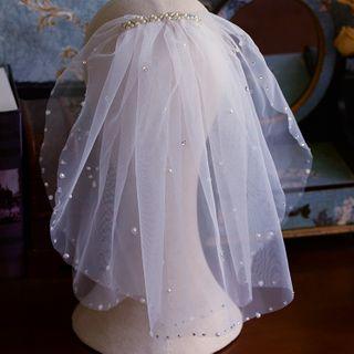 Bridal   Pearl   Veil   Faux