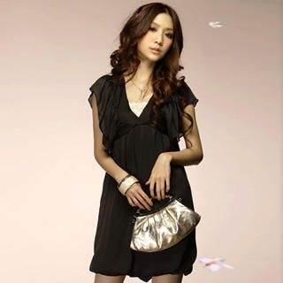 Buy Tokyo Fashion Ruffle-Sleeve Satin Dress 1022550172