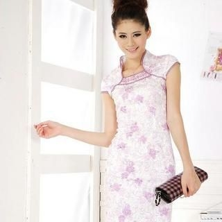 Buy Xunia Square-Neck Embroidered Cheongsam 1022955149