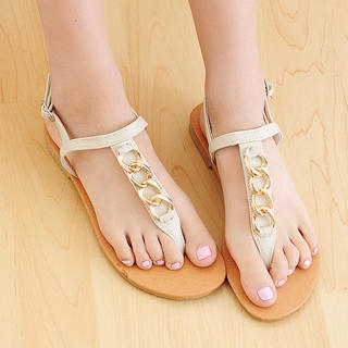 Buy KAWO Chain-Accent Thong Sandals 1022910301