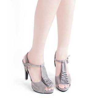 Buy KAWO Ruffle Platform T-Strap Sandals 1022911043