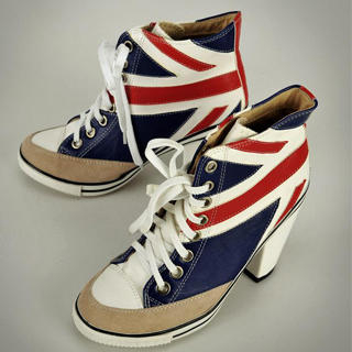 Picture of tictak Union Jack Sneaker Heels 1023070129 (Sneakers, tictak Shoes, China Shoes, Womens Shoes, Womens Sneakers)