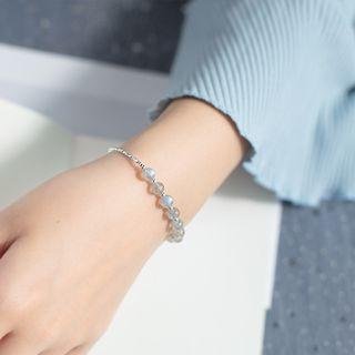 Image of 925 Sterling Silver Bead Bracelet