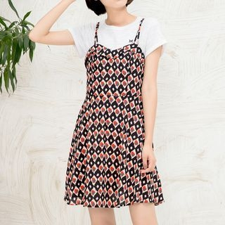 Patterned Spaghetti Strap Dress 1059813831