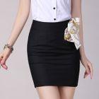 Bow Pencil Skirt 1596