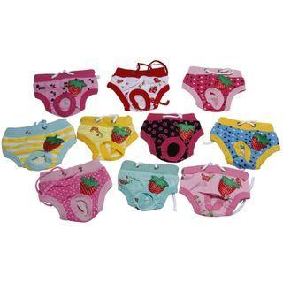 Image of Fruit Print Sanitary Pet Pants