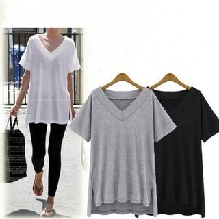 V-Neck Short-Sleeve T-Shirt 1052900829