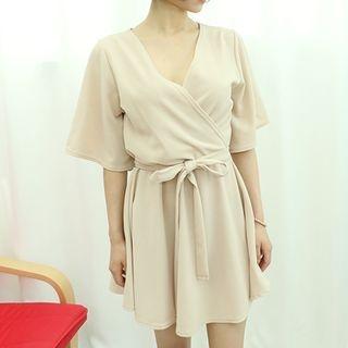Tie-Waist Wrap Mini Dress 1061056170