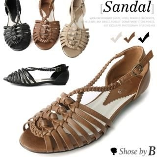 Buy Shoes by B Woven Strap Sandals 1022850521
