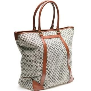 Buy Portfranc Faux-Leather Trim Tote 1022392182
