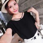 Short-Sleeve Chiffon T-Shirt 1596