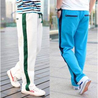 Drawstring Contrast Trim Sweatpants 1035902690