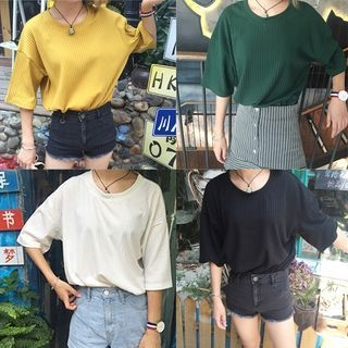 Short-Sleeve Ribbed T-Shirt 1060221575