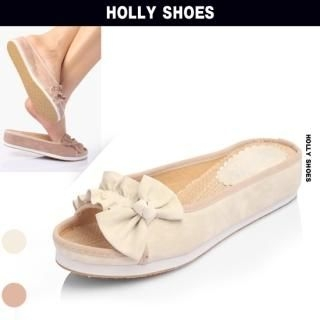 Buy Holly Shoes Bow Accent Slippers 1022888318