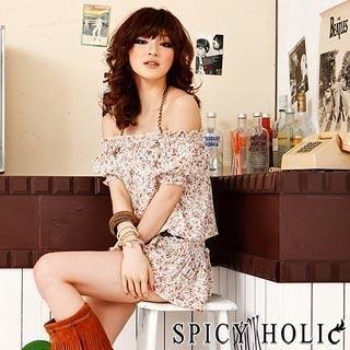 Buy SPICY HOLIC Floral Print Off-Shoulder Dress 1022458247