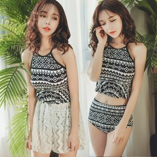 Set: Printed Tankini + Skirt 1057875262
