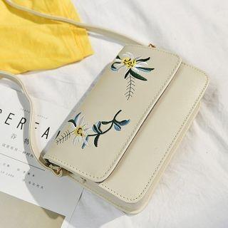 Flower Embroidered Crossbody Bag