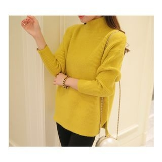 Turtleneck Ribbed Sweater 1048701234